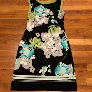 Apt 9 Sz M Black Green Floral Dress